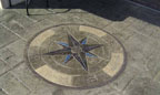Decorative Stamped Concrete Compass
