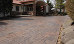 Stamped Concrete Driveway at Christopher Norris Photography