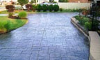 Commercial Stamped Concrete Driveway