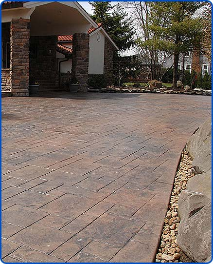 stamped concrete driveway Cleveland Ohio